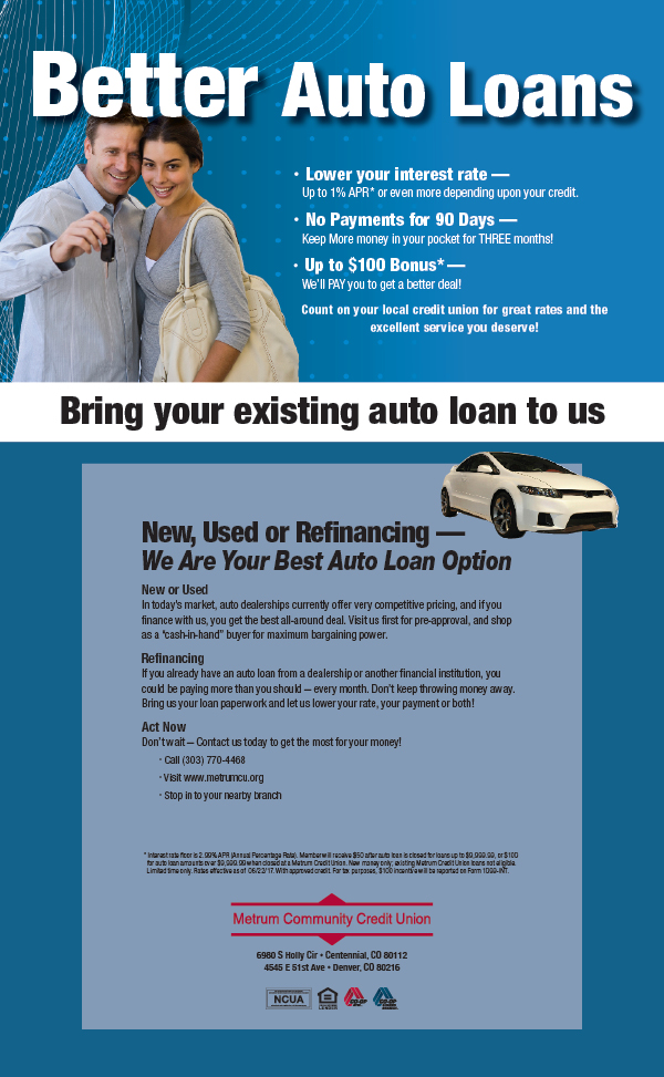 Better Auto Loans with Metrum Credit Union